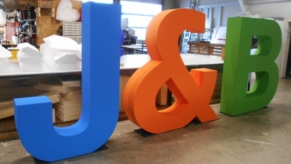 3D-Grossbuchstaben-Styropor