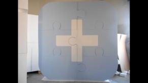 3D-Objekt-Puzzle-Grossobjekt