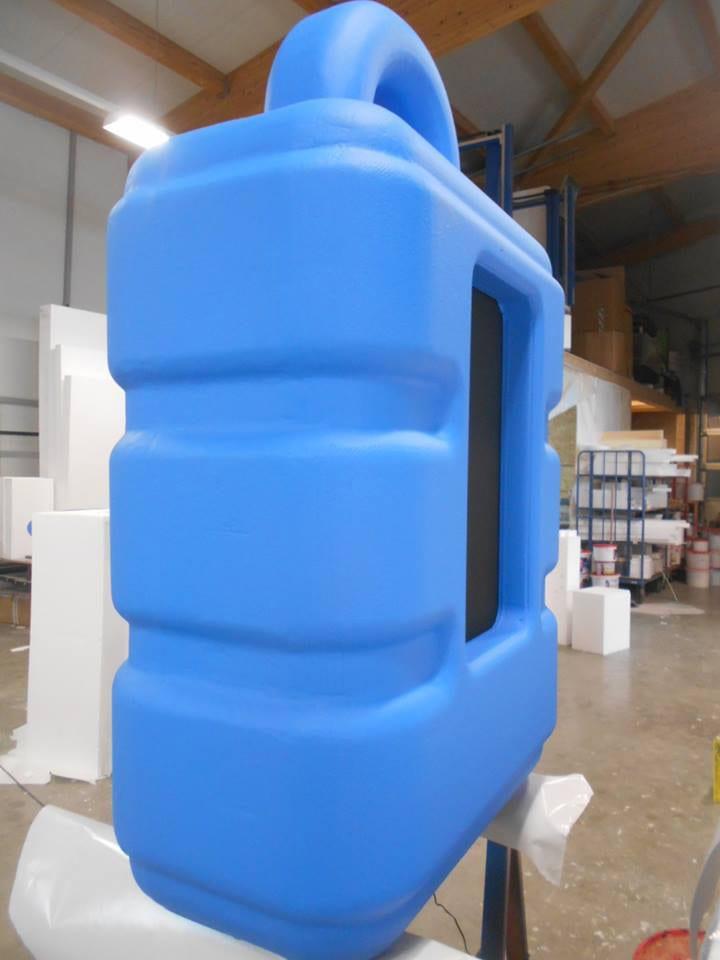 3D-Modell in Übergröße aus Styropor