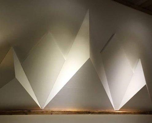 3D-Objekt-Alpen-Bergpanorama-Dekoobjekt