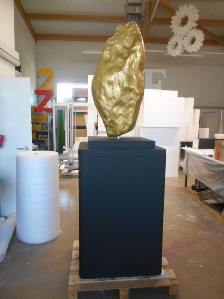 3D Skulptur Styropor Goldnugget