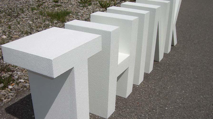 individuelle styroporbuchstaben und gro buchstaben aus styropor. Black Bedroom Furniture Sets. Home Design Ideas