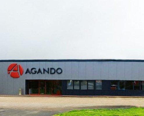 Fassaden-Logo in 3D für Agando Logistik 2