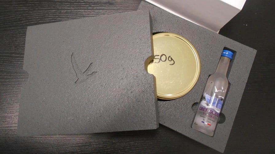 Styropor-Verpackung 3D-Geschenkverpackung offen